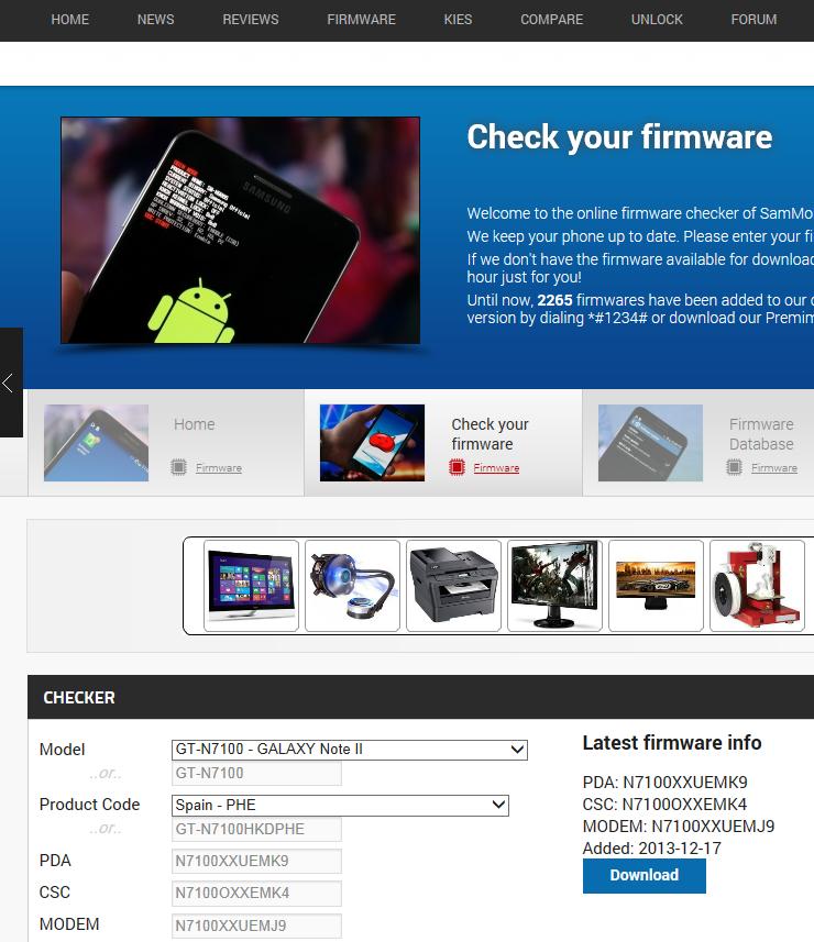 Ejemplo Firmware Note 2